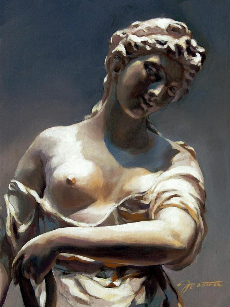 """Painting Sculpture of Diana"" original fine art by Joanna Bingham"