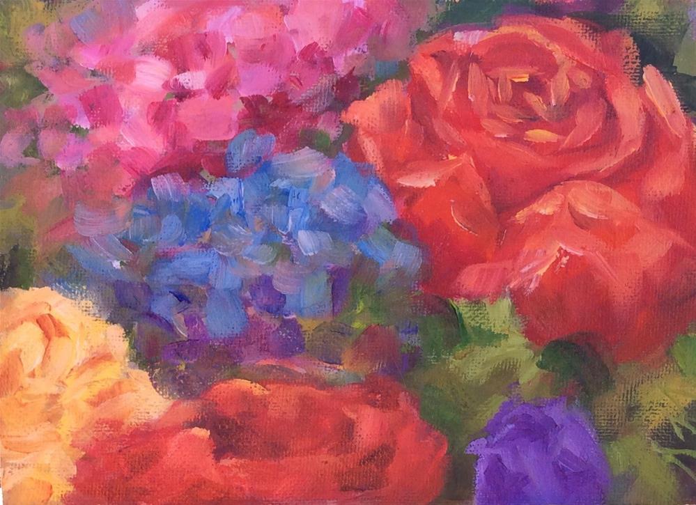 """""""bouquet"""" original fine art by Susie Monzingo"""