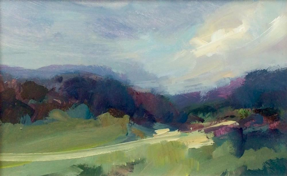 """High Peak Trails"" original fine art by Anne Wood"