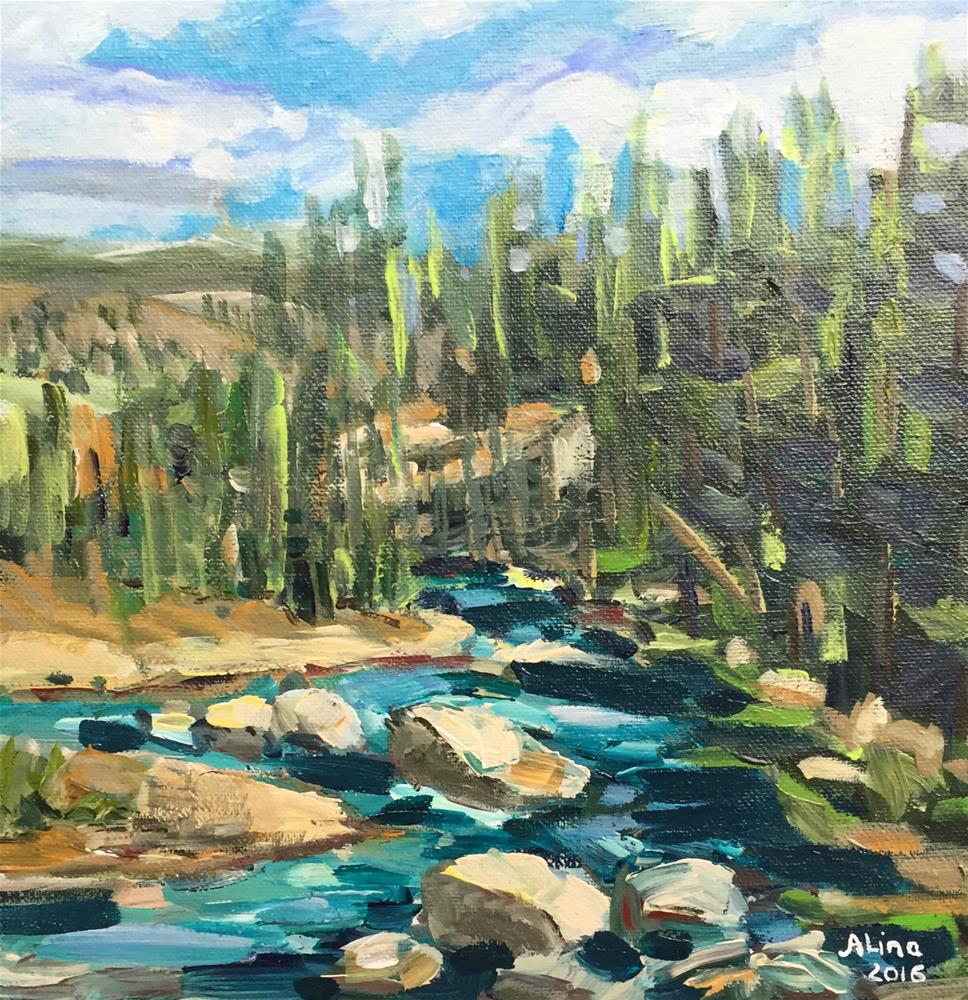 """Lamar River View"" original fine art by Alina Vidulescu"