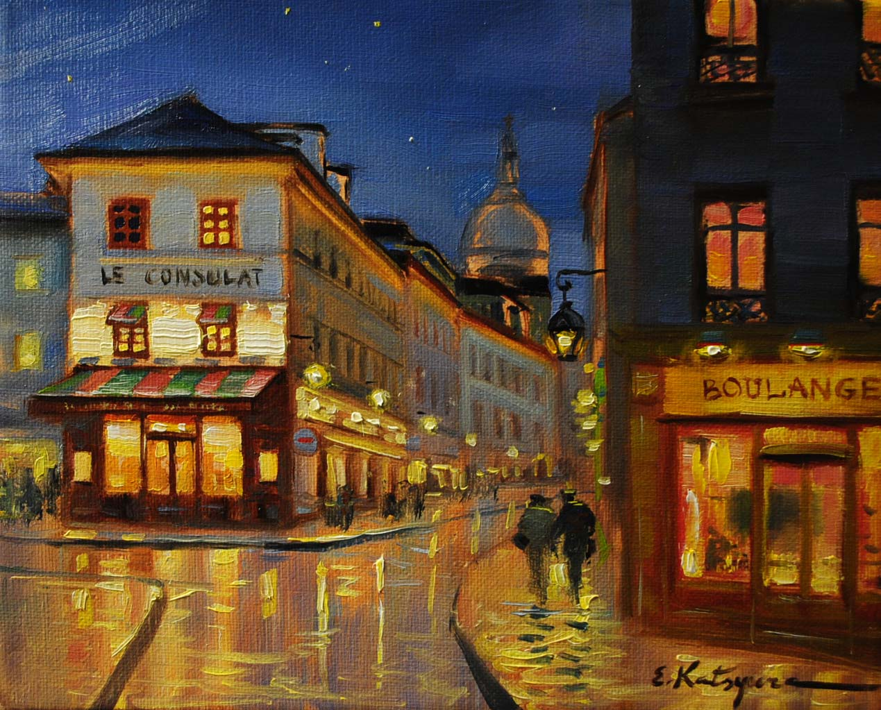 """Corner Shop in Paris"" original fine art by Elena Katsyura"