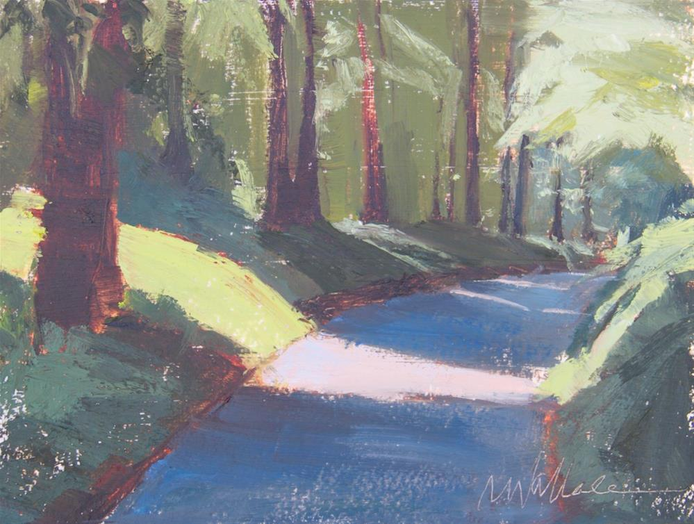 """#86 into the woods"" original fine art by Nancy Wallace"