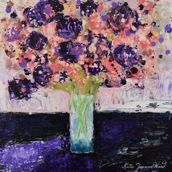 """Flower Painting No 84"" original fine art by Katie Jeanne Wood"