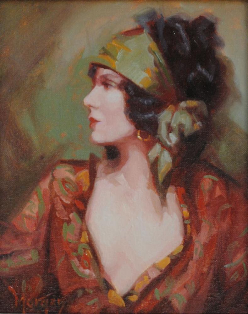 """1930's Memories"" original fine art by Cecile W. Morgan"