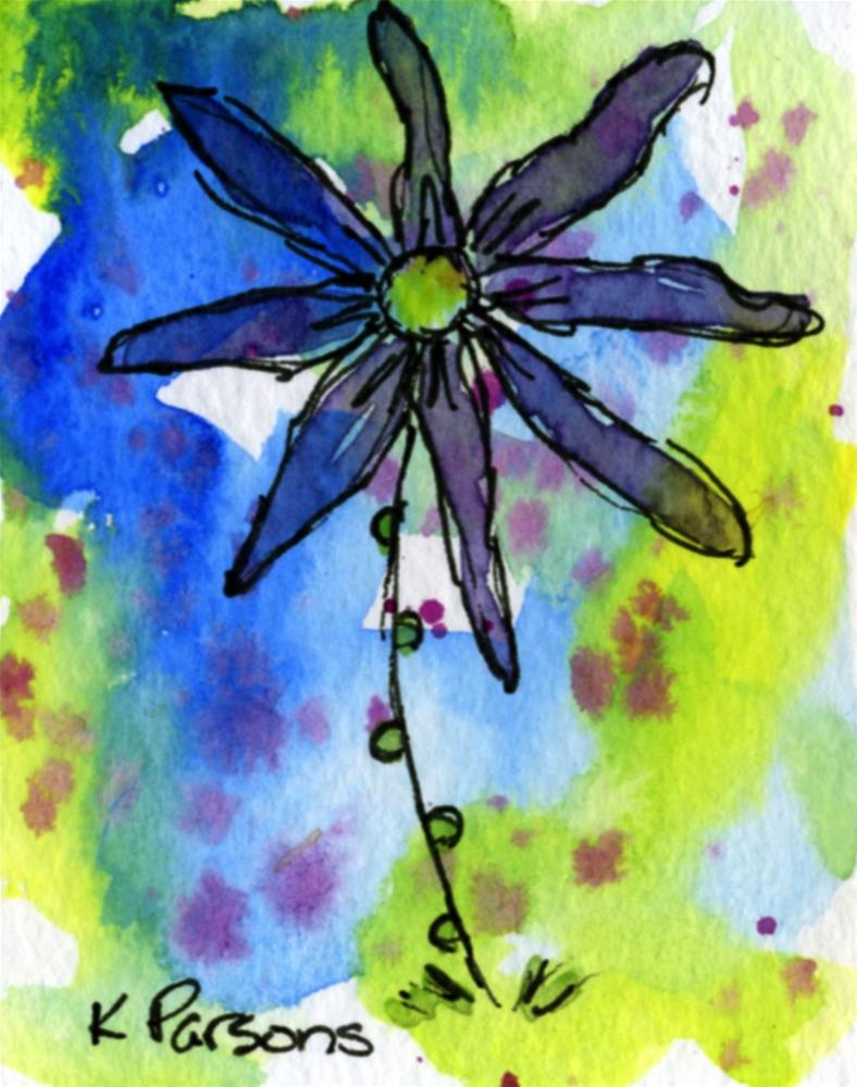 """Spring Flower"" original fine art by Kali Parsons"