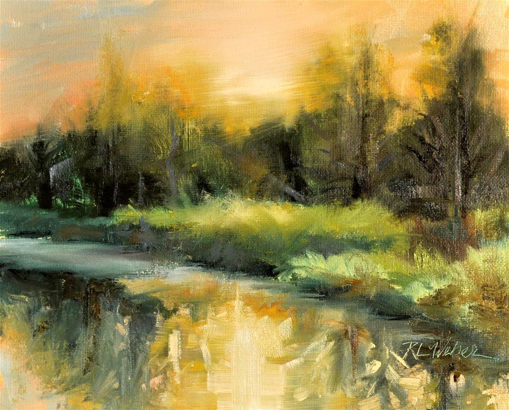 """Morning on Wazeecha"" original fine art by Rl Weber"