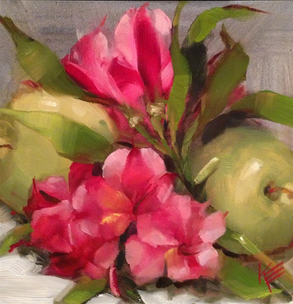 """Astros & Apples"" original fine art by Krista Eaton"