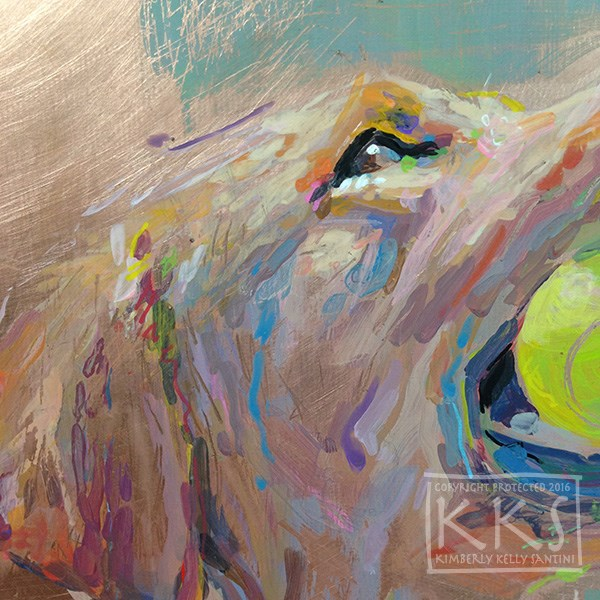 """Caught - a Detail"" original fine art by Kimberly Santini"