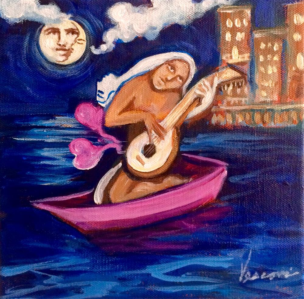 """Moonlight Song"" original fine art by Valerie Vescovi"