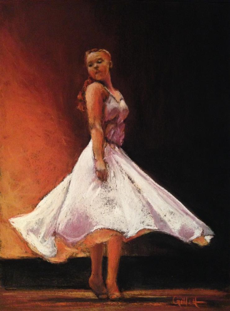 """""""Girl On Fire"""" original fine art by Cindy Gillett"""