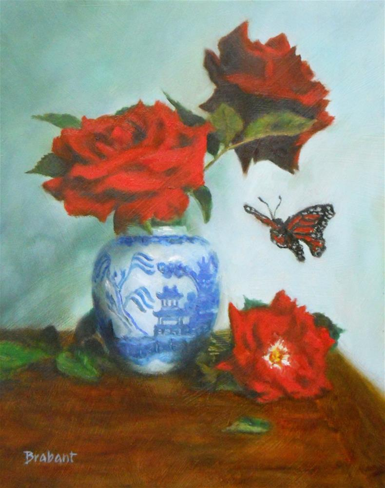 """Wings and Willow Ware"" original fine art by Jill Brabant"