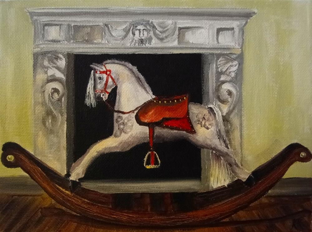 """Rocking horse"" original fine art by Karen Robinson"