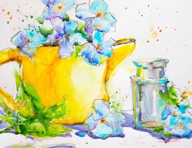 """spring wave"" original fine art by Nora MacPhail"