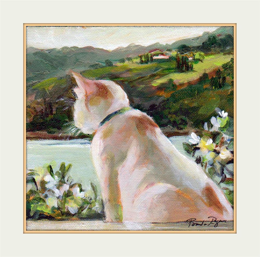 """""""Window Seat"""" original fine art by Pamela Jane Rogers"""