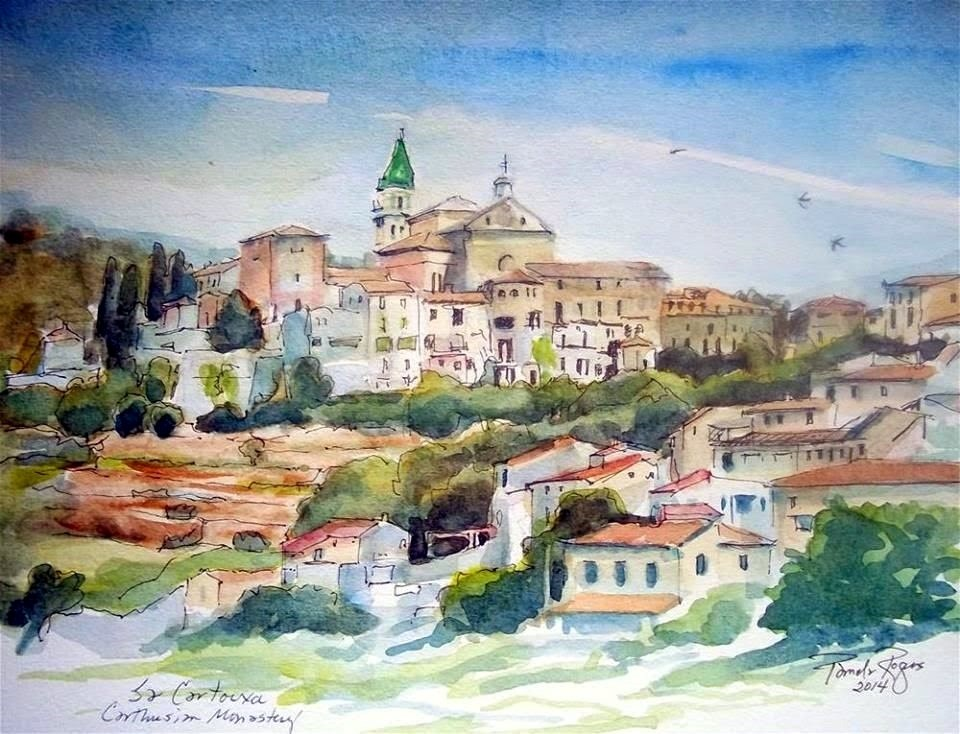 """Chopin and Sand in Granada"" original fine art by Pamela Jane Rogers"