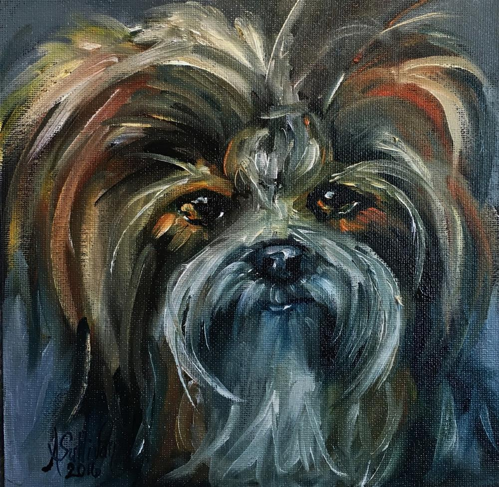 """Someone's Darling pet portrait by Alabama Artist Angela Sullivan"" original fine art by Angela Sullivan"