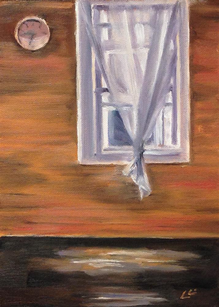 """Window Time"" original fine art by Linda Lowery"
