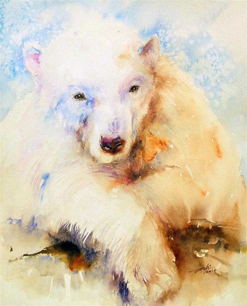 """Siesta_Polar Bear"" original fine art by Arti Chauhan"