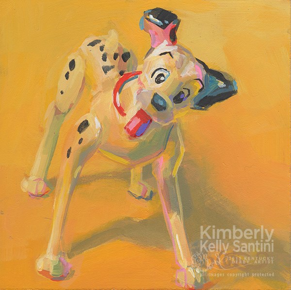 """Pongo, Toy #11"" original fine art by Kimberly Santini"