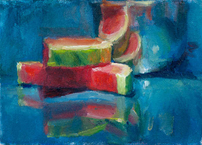 """Watermelon 2"" original fine art by Sharon Savitz"