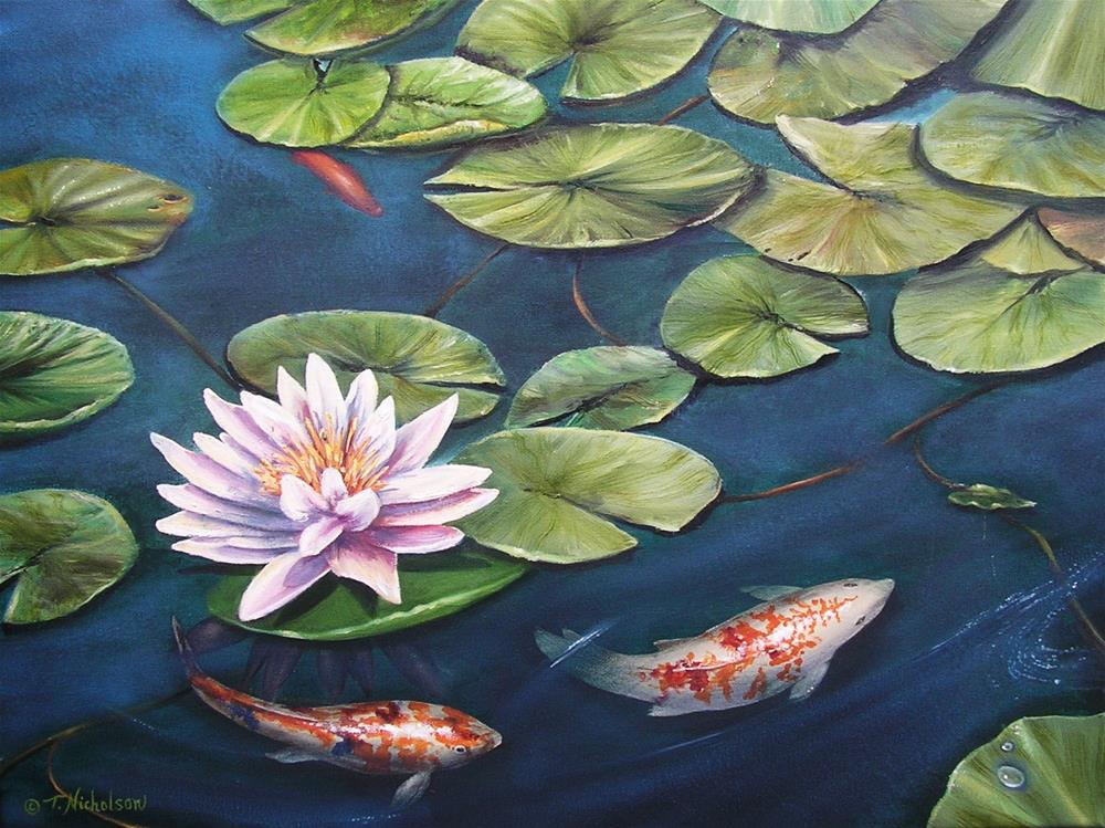 """Koi"" original fine art by Terri Nicholson"