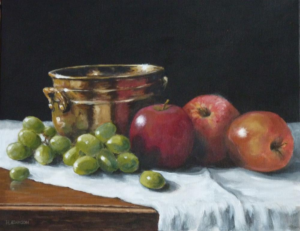 """Juicy and Crisp"" original fine art by Helene Adamson"