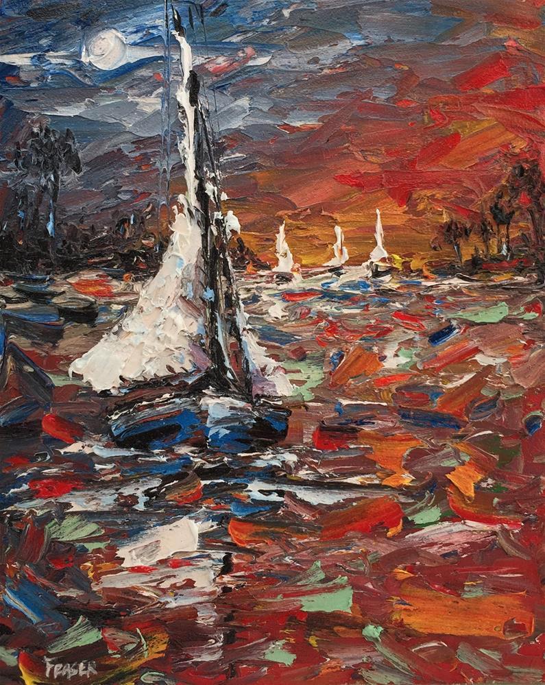 """""""Color Sail"""" original fine art by Ken Fraser"""