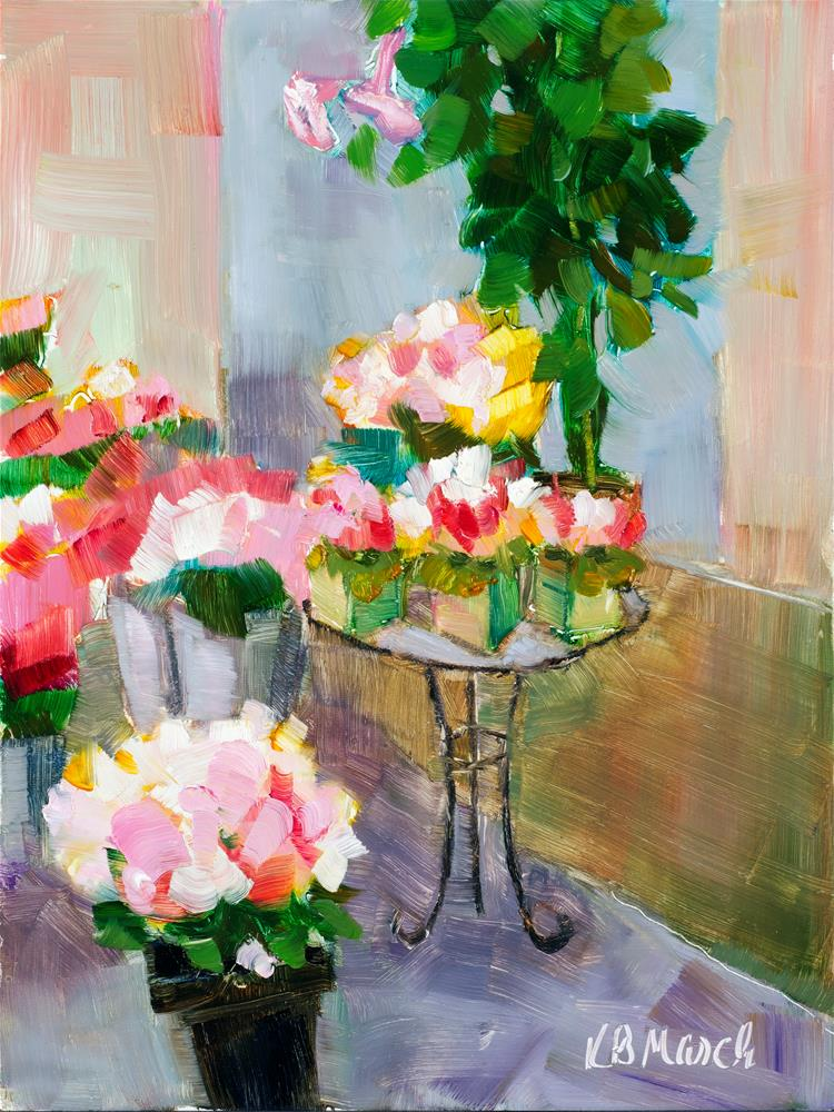 """French Flowers"" original fine art by Katharine March"