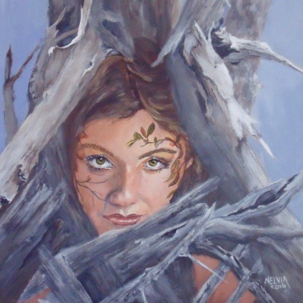 """Dryad"" original fine art by Nelvia  McGrath"