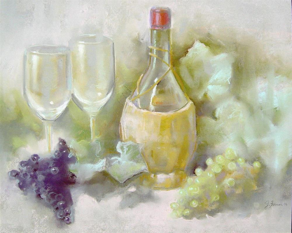 """Chianti and Grapes"" original fine art by Jeannette Fromm"