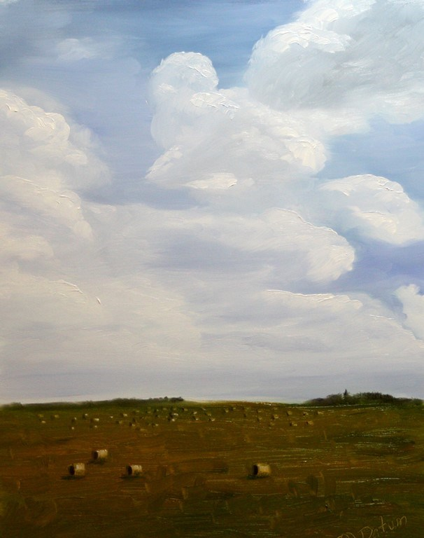 """Oklahoma Clouds"" original fine art by Mary Datum"