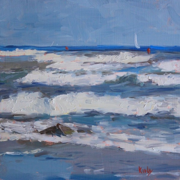 """Windy Coast"" original fine art by Randall Cogburn"