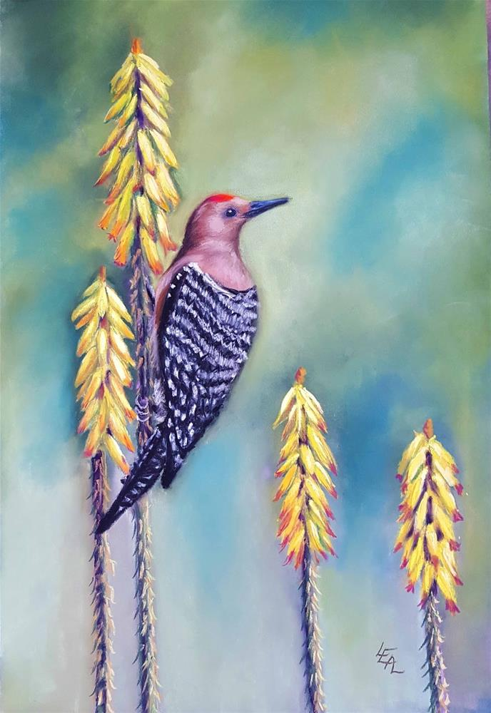 """""""Breakfast: Aloe Side Up"""" original fine art by Anna Lisa Leal"""