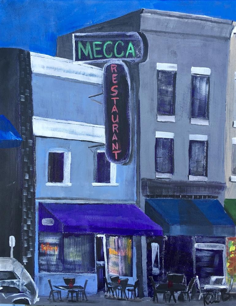 """Mecca Building #3 - 30 Paintings in 30 Days"" original fine art by Kimberly Balentine"