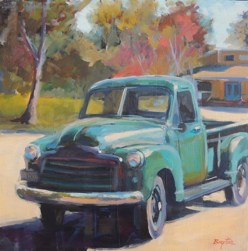"""Truckin"" original fine art by Wendy Brayton"