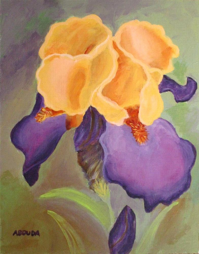 """Yellow and Purple Iris"" original fine art by Sandy Abouda"