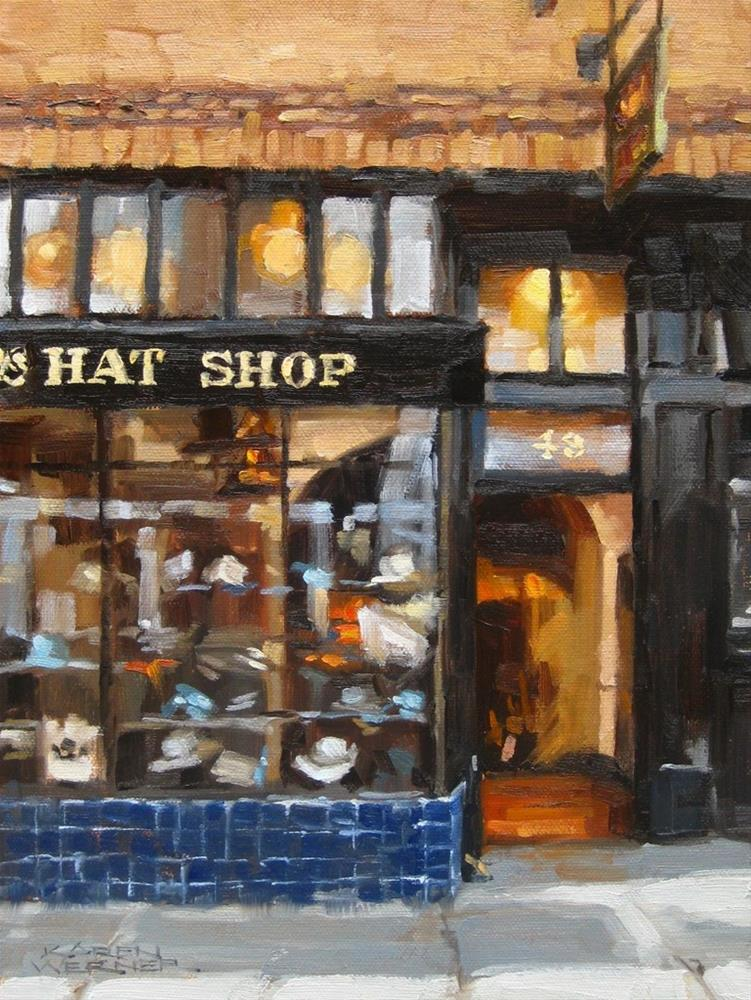 """Hat Shop"" original fine art by Karen Werner"
