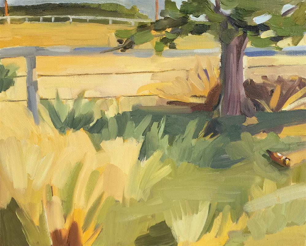 """""""Shady Spot"""" original fine art by Jessie Dodington"""