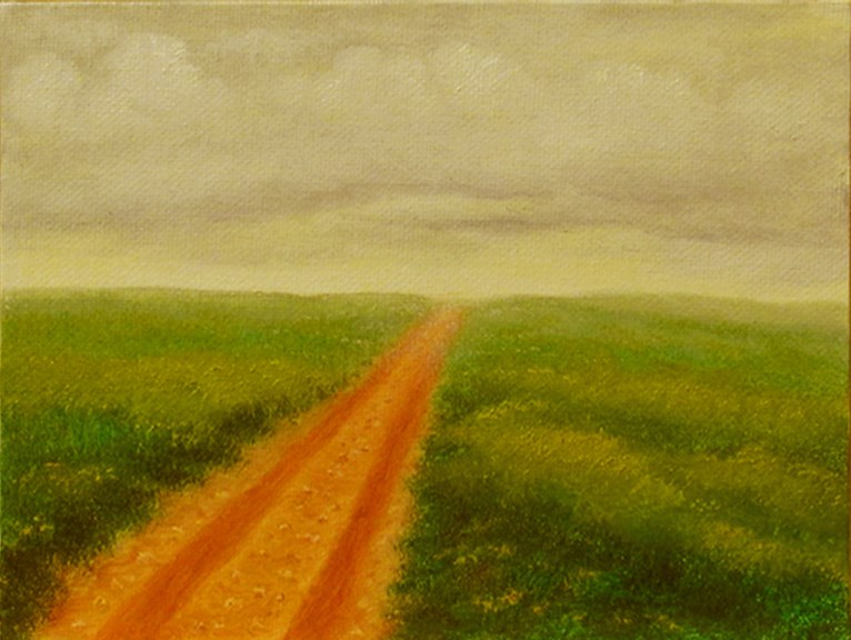 """Taking The Long Way Home"" original fine art by Mary Sylvia Hines"