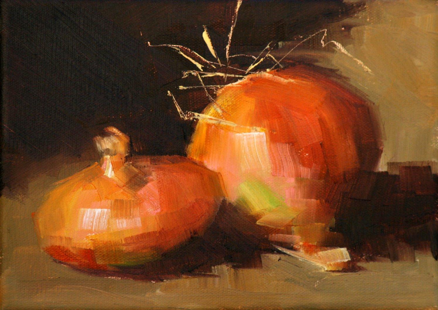 """""""onions"""" original fine art by Carol Carmichael"""