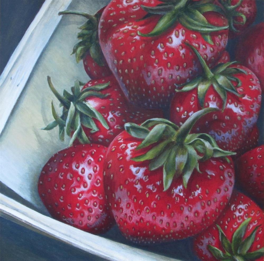 """Berry Basket"" original fine art by Debbie Shirley"
