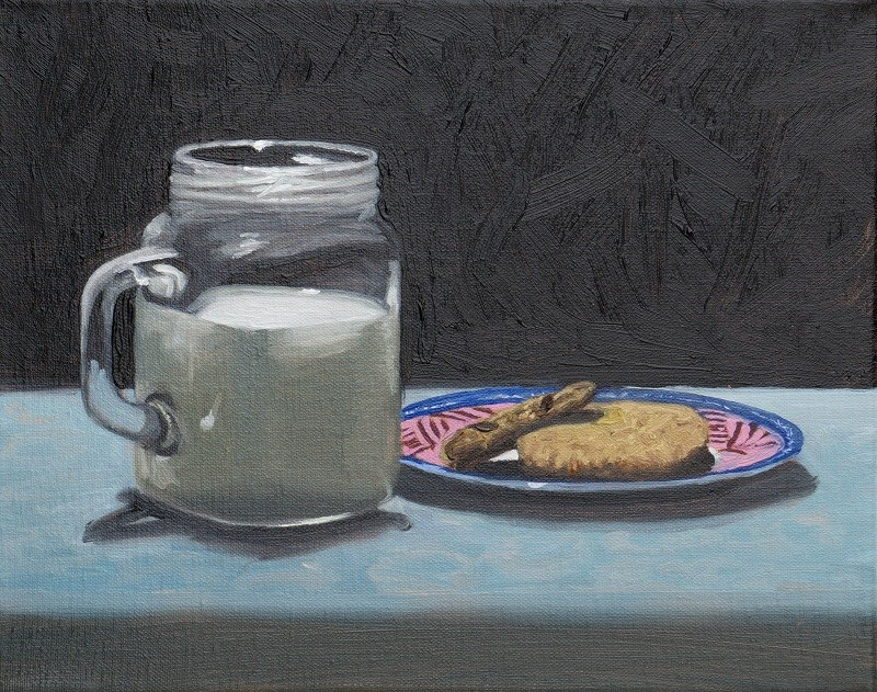"""Milk & cookies"" original fine art by Tim Gier"