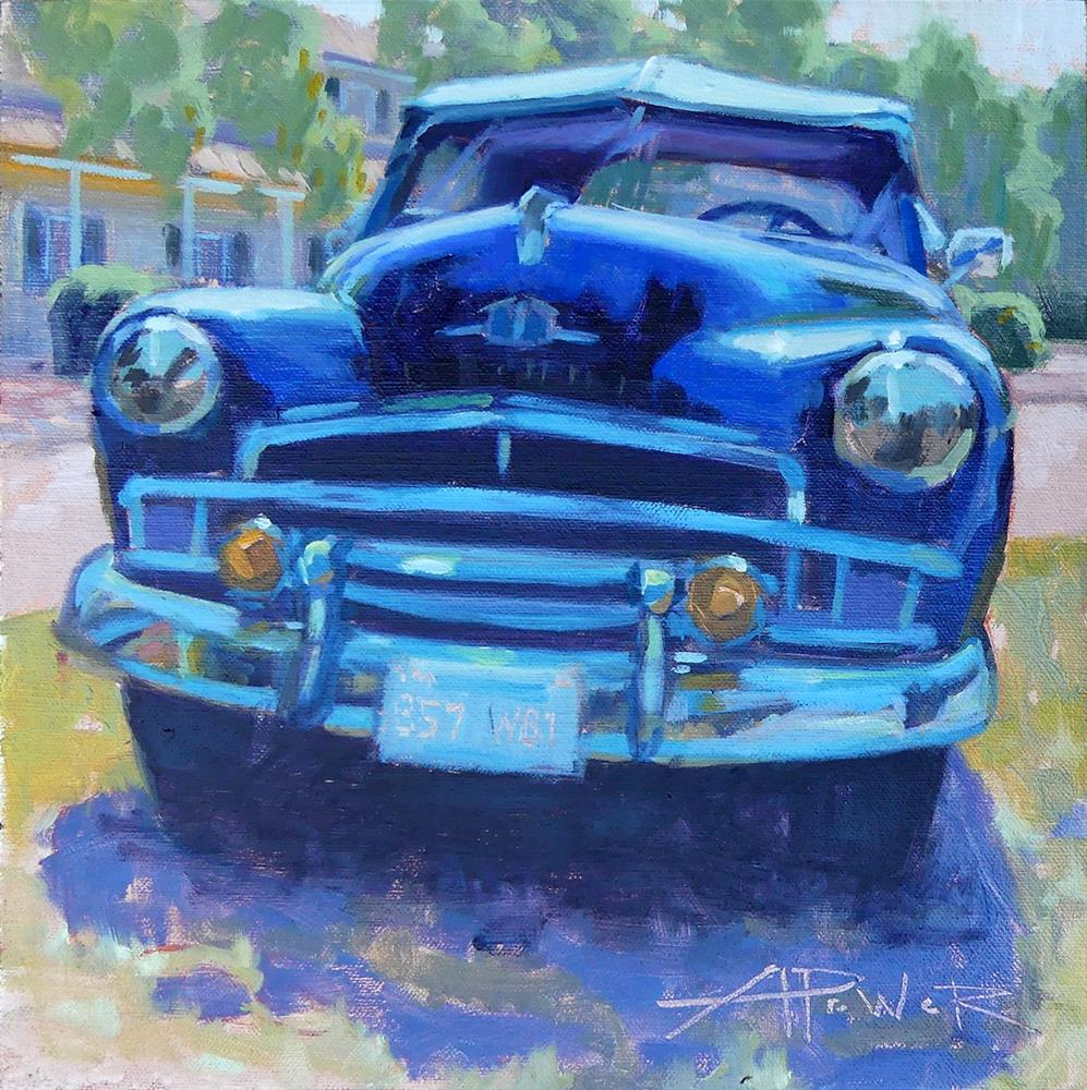 """Car Sketching - 14 of 30 - Shiny for Sale"" original fine art by Anette Power"