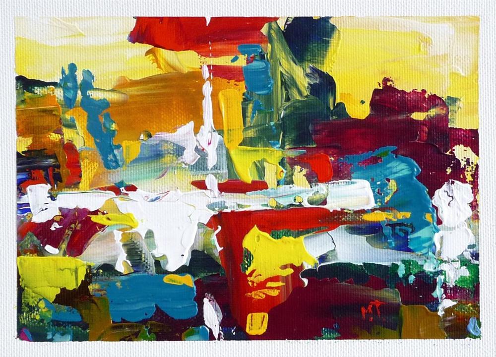 """""""Summer street"""" original fine art by Mikko Tyllinen"""
