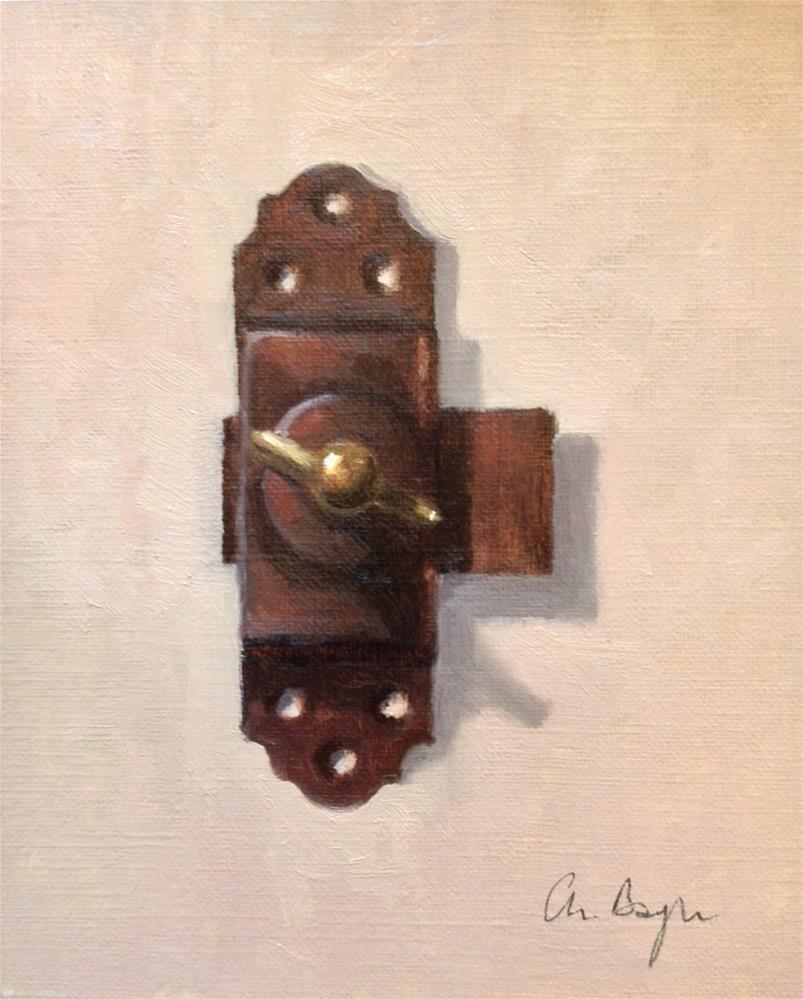 """Le loquet (door latch)"" original fine art by Christine Bayle"