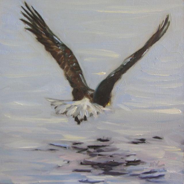 """""""EAGLE RELEASE"""" original fine art by Mb Warner"""