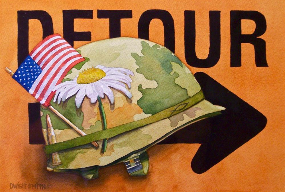 """  DETOUR OF DUTY "" original fine art by Dwight Smith"
