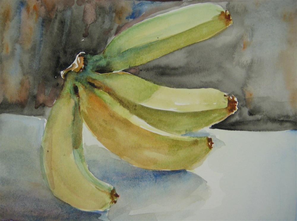 """""""banana"""" original fine art by Wenqing Xu"""