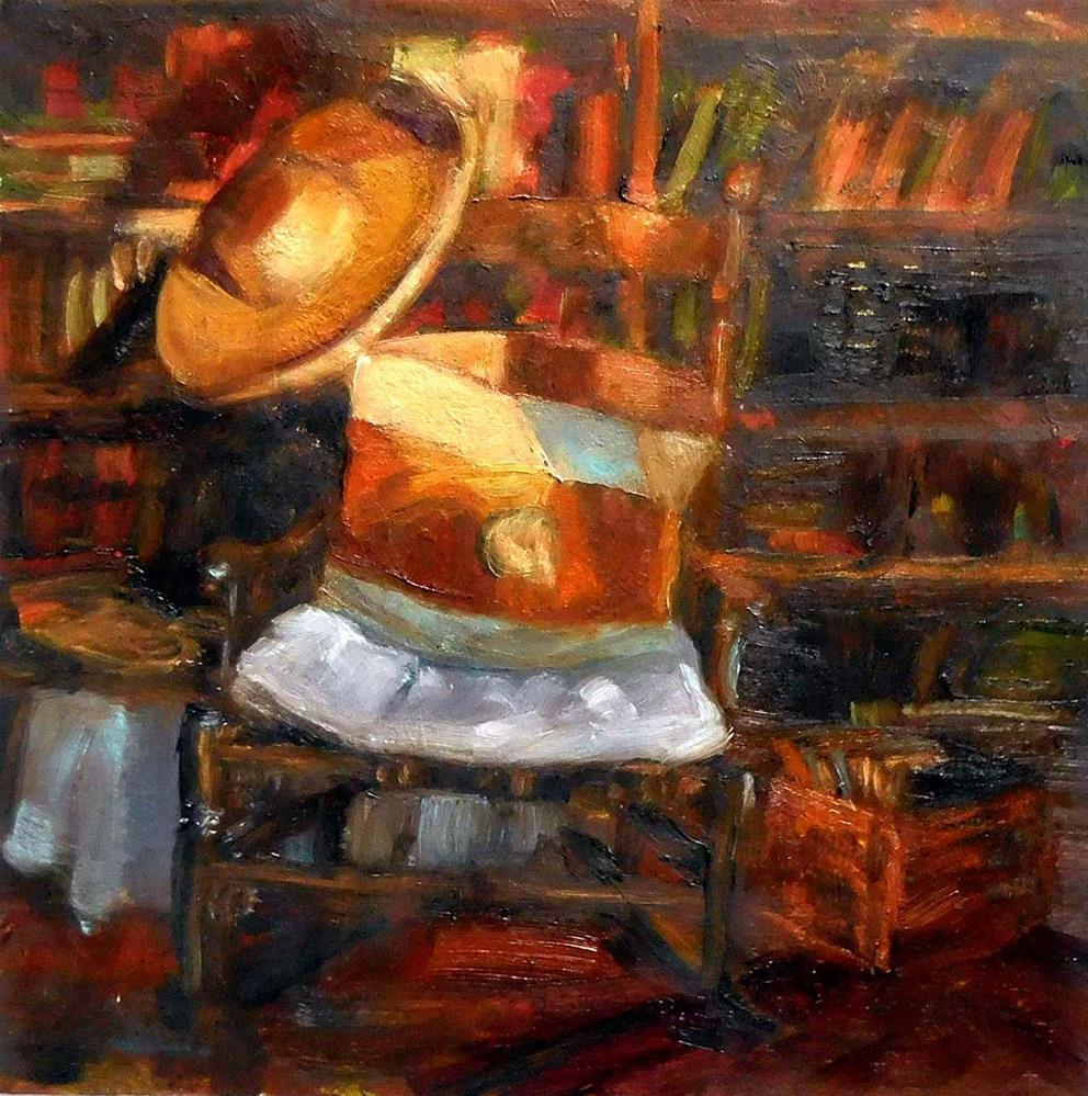"""Reading Corner"" original fine art by Cietha Wilson"