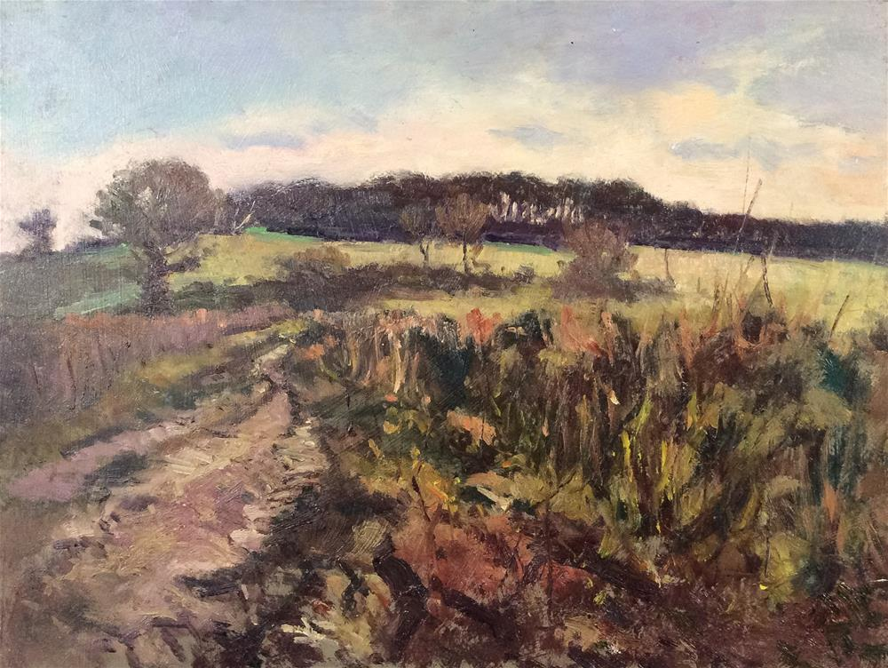 """Sussex Landscape"" original fine art by John Shave"